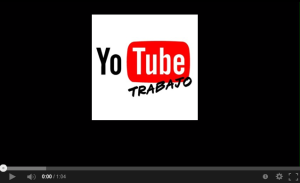 Pantalla You Tube Trabajo