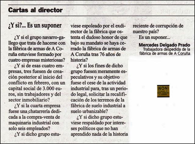 20131026 Cartas al Director - La Opinion