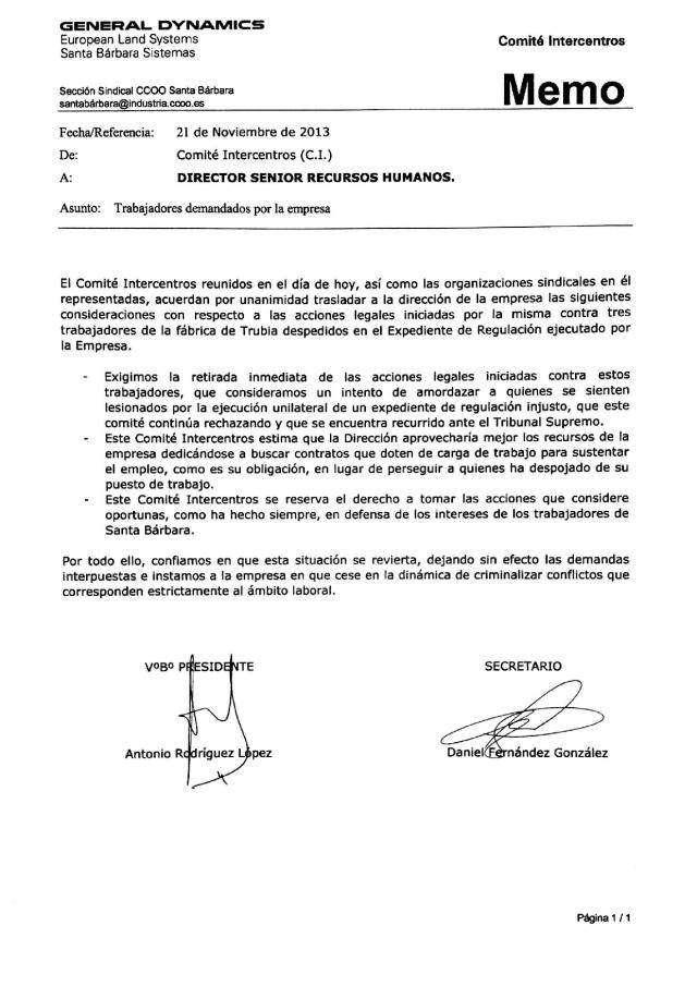 20131121 Nota CI trabajadores demandados
