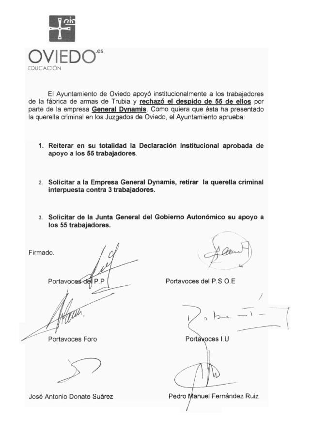 20131127 Declaracion Ayto Oviedo 27 Nov 2013