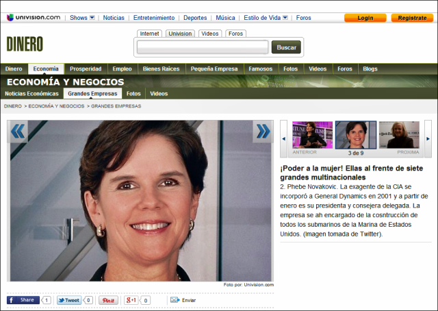 20131212 Univision - Poder a la mujer - Ellas al frente de 7 grandes multinacionales