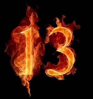 13 quemando