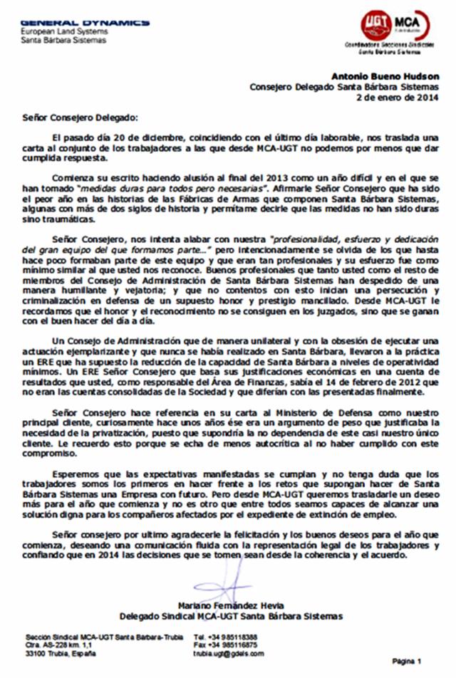 20140102 Carta a Consejero Delegado de UGT MCA