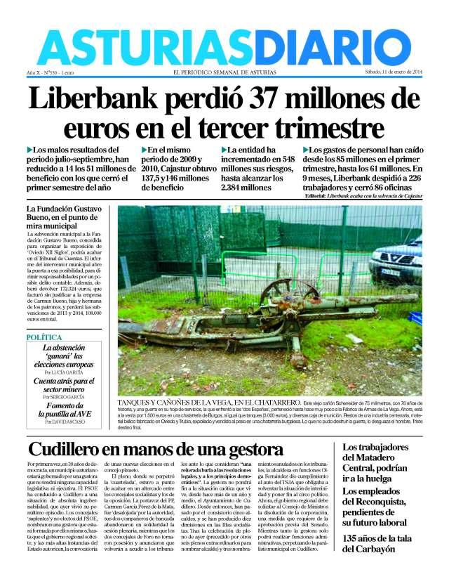 20140111 AsturiasDiario - Torres y tanques - portada