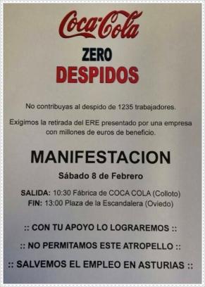 Coca Cola - Zero despidos