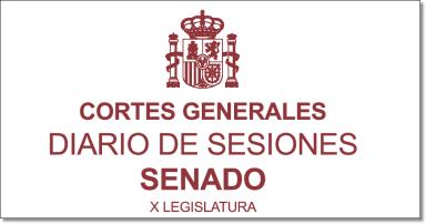 Cortes Generales - Diario desiones Senado X legislatura - Logo
