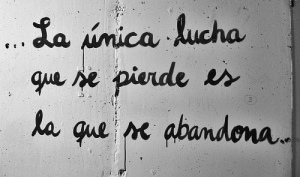 La unica lucha - pared