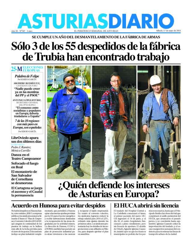 20140517 Asturias Diario - Portada
