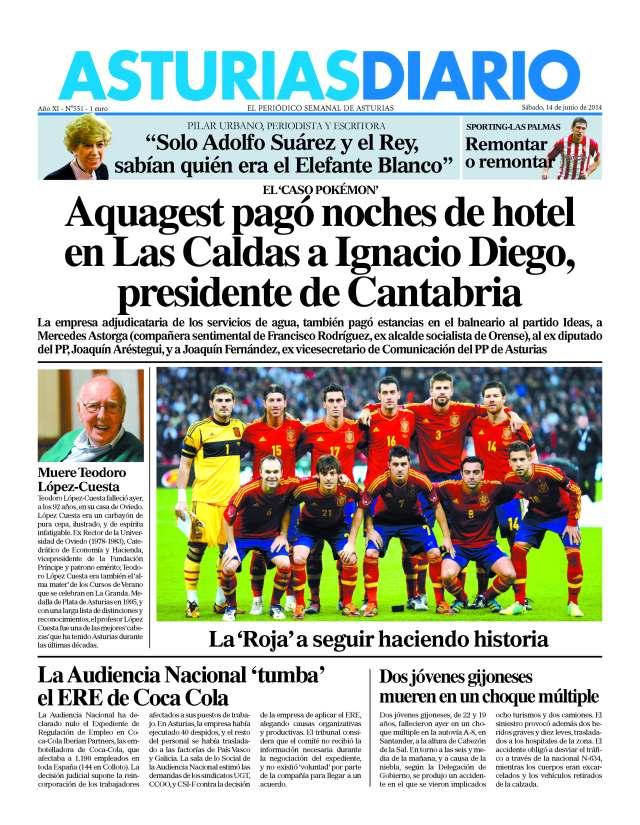 20140614 Asturias Diario - Portada
