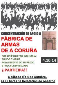20141004 Concentracion de apoio a Fábrica de Armas de A Coruña