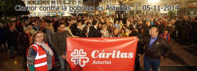 20141105 El Comercio - Clamor contra la pobreza en Asturias - Cabecera