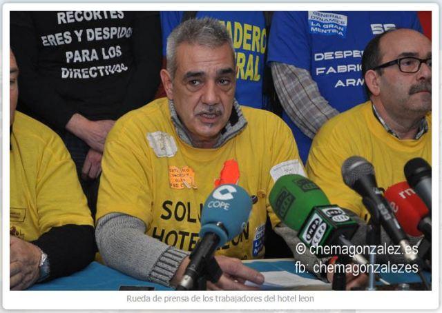 20150123 Rueda de prensa de los trabajadores del Hotel Leon - Asturias