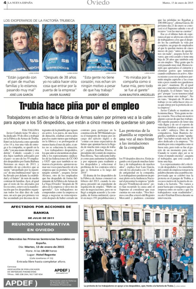 20150113 La Nueva España - Papel