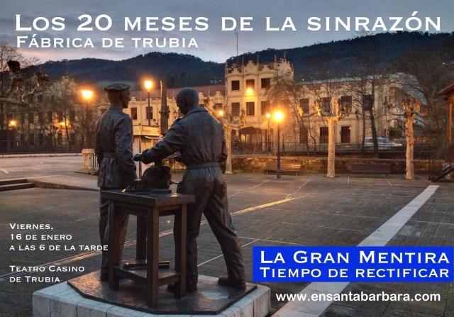 20150116 Acto Casino de trubia - LOS 20 MESES DE LA SINRAZON