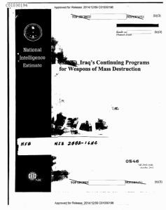 20150321 Informe CIA desclasificado de Iraq