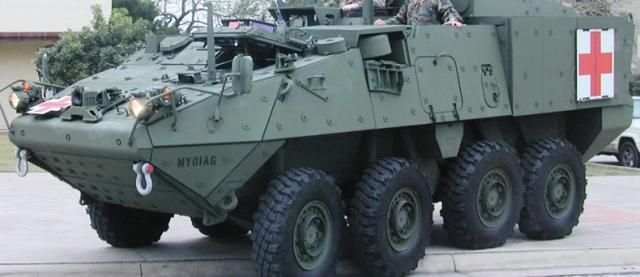 20070917 Erre que erre con el Stryker para evacuacion