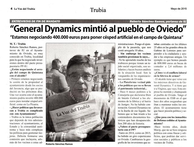 20150509 LVT Rivi - General Dynamics mintio al pueblo de Oviedo