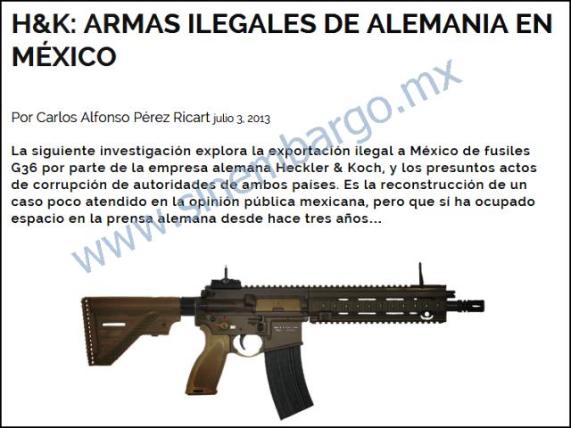 Sinembargo - trafico de armas