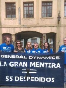 Izquierda Unida de Oviedo continúa su apoyo a los 55 despedidos de la Fábrica de Armas de Trubia