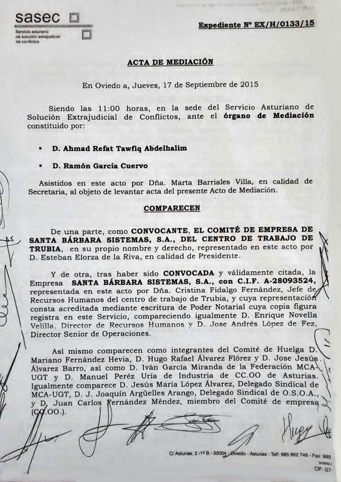 SASEC – Acta de Mediación – Comité de Trubia & GD Santa Bárbara ...