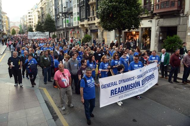 20151110 LVT - los 55 de manifestacion en Oviedo
