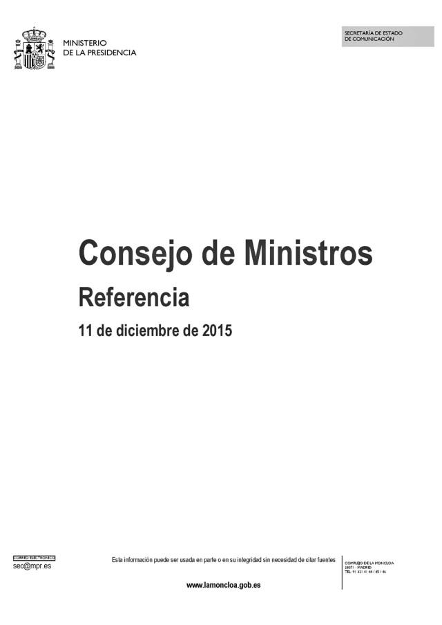 20151211 Consejo de Ministros - 01