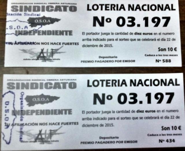 20151217 Loteria OSOA para asociacion 55 despedidos