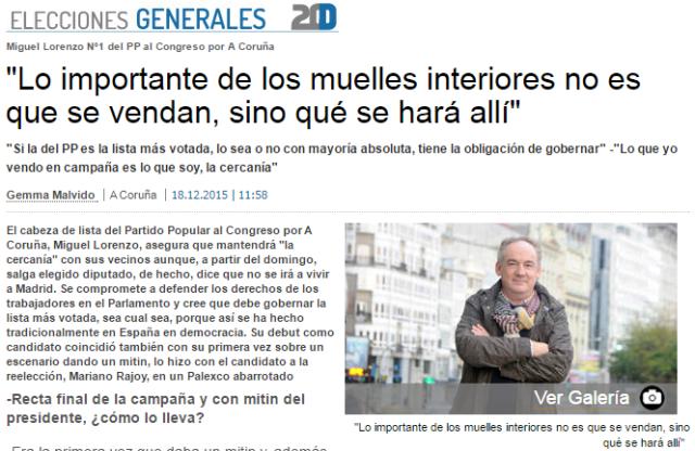 20151219 La opinion A Coruña - elecciones PP