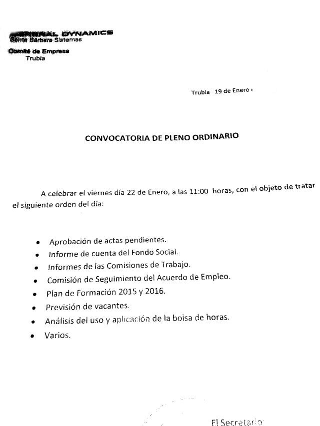 20160122 FAT - Orden del Dia Comité