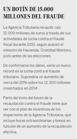 20160216 El Pais - Un botin de 15000 millones