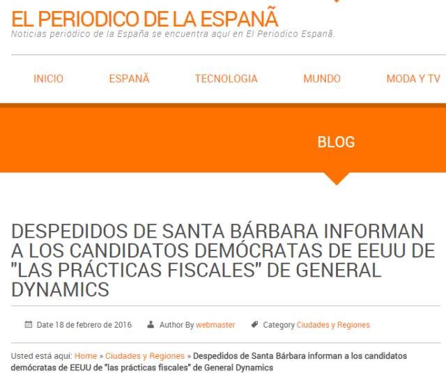 20160218 El periodico de la España