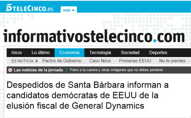 20160218 Telecinco - 55 despedidos informan a USA