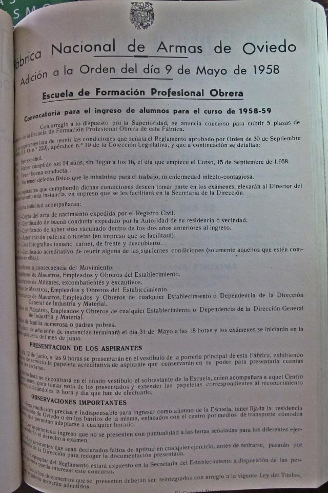 19580509 Orden FAO libro venta rastro Oviedo