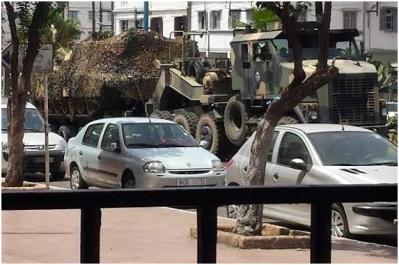 20160709 Casablanca - Transporte tanque Abrams circulando