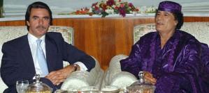 Aznar con Gadafi