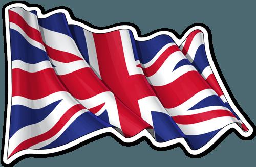 Bandera britanica ondeando